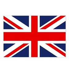 Cute Union jack flag Postcards (Package of 8)
