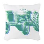 Tractor Factor Woven Throw Pillow