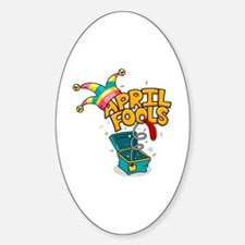 Illustration Celebrating April Fool Decal