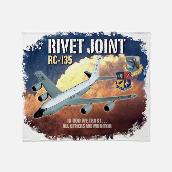RC-135 Rivet Joint Throw Blanket