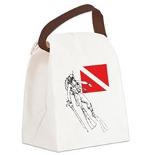 Diver Down Canvas Lunch Bag
