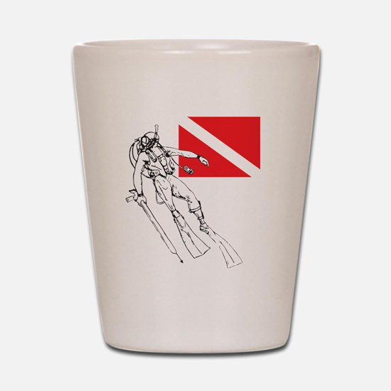 Diver Down Shot Glass