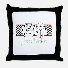 Just Roll Throw Pillow