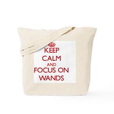 Cute Keep calm and carry a wand Tote Bag
