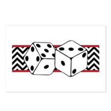 Dice Border Postcards (Package of 8)