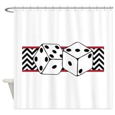Dice Border Shower Curtain