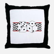 Dice Border Throw Pillow
