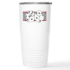 Dice Border Travel Mug