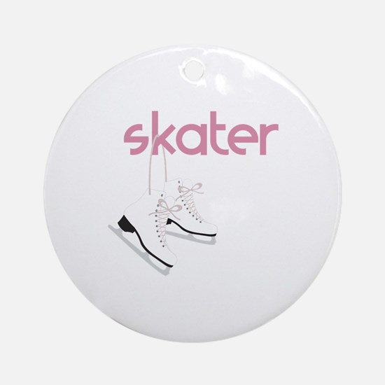 Skaters Skates Ornament (Round)