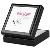 Figure skating Square Keepsake Boxes