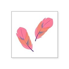 Pink Feathers Sticker