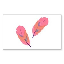 Pink Feathers Decal