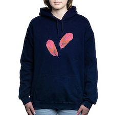 Pink Feathers Women's Hooded Sweatshirt