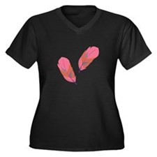 Pink Feathers Plus Size T-Shirt