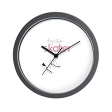 Figure Skater Wall Clock