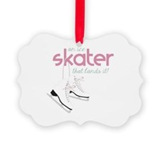 Skater Lands It Ornament