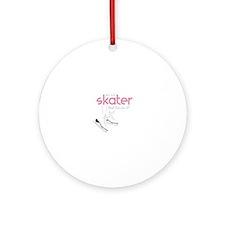 Skater Lands It Ornament (Round)
