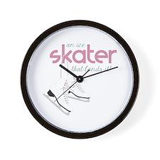 Skater Lands It Wall Clock