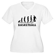 Basketball Dribble Evolution Plus Size T-Shirt