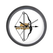 Aim Straight Wall Clock