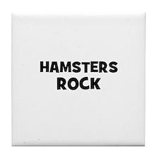 hamsters rock Tile Coaster