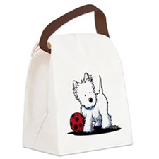 Westie & Ball Canvas Lunch Bag