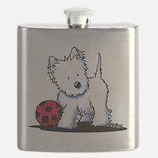 Westie & Ball Flask