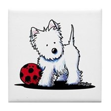 Westie & Ball Tile Coaster