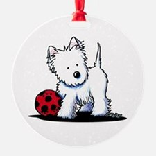 Westie & Ball Ornament