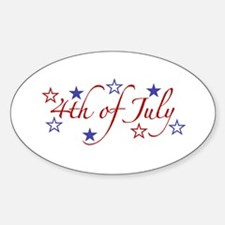 4th of July Oval Decal