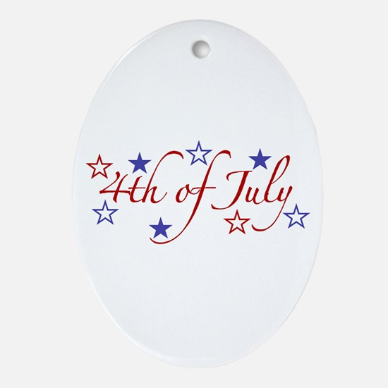 4th of July Oval Ornament