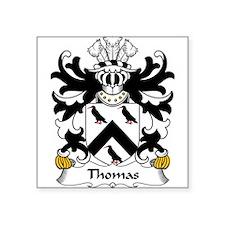 "Cute Thomas coat arms Square Sticker 3"" x 3"""