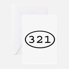 321 Oval Greeting Cards (Pk of 10)