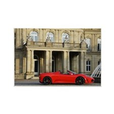 A red sports car from Maranello,  Rectangle Magnet