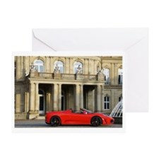 A red sports car from Maranello, Ita Greeting Card