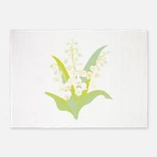 Lily Of The Valley 5'x7'Area Rug