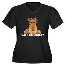 Welsh Terrier Cookies Women's Plus Size V-Neck Dar