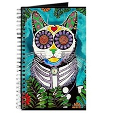 Sugar Skull Cat Journal