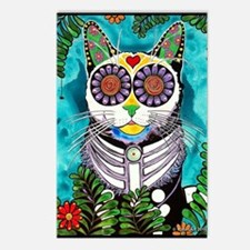 Sugar Skull Cat Postcards (Package of 8)