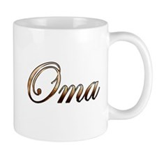 Gold Oma Mugs