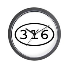 316 Oval Wall Clock
