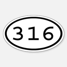 316 Oval Oval Decal