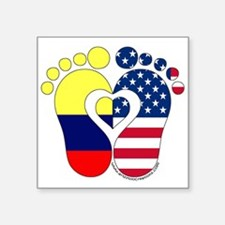 "Colombian American Baby Square Sticker 3"" x 3"""
