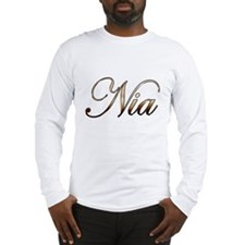 Gold Nia Long Sleeve T-Shirt