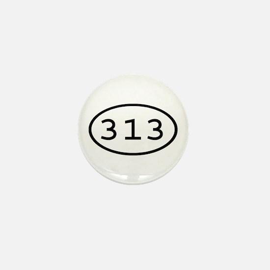 313 Oval Mini Button
