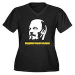 Lenin Women's Plus Size V-Neck Dark T-Shirt