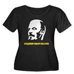 Lenin Women's Plus Size Scoop Neck Dark T-Shirt