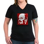 Lenin Women's V-Neck Dark T-Shirt