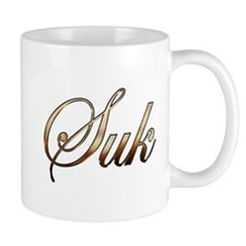 Gold name Suk Mugs