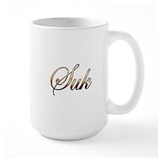 Gold name Suk Mugs
